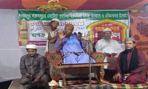 নাঙ্গলকোটে শংকরপুর নেছারিয়া মাদরাসার মাহফিল